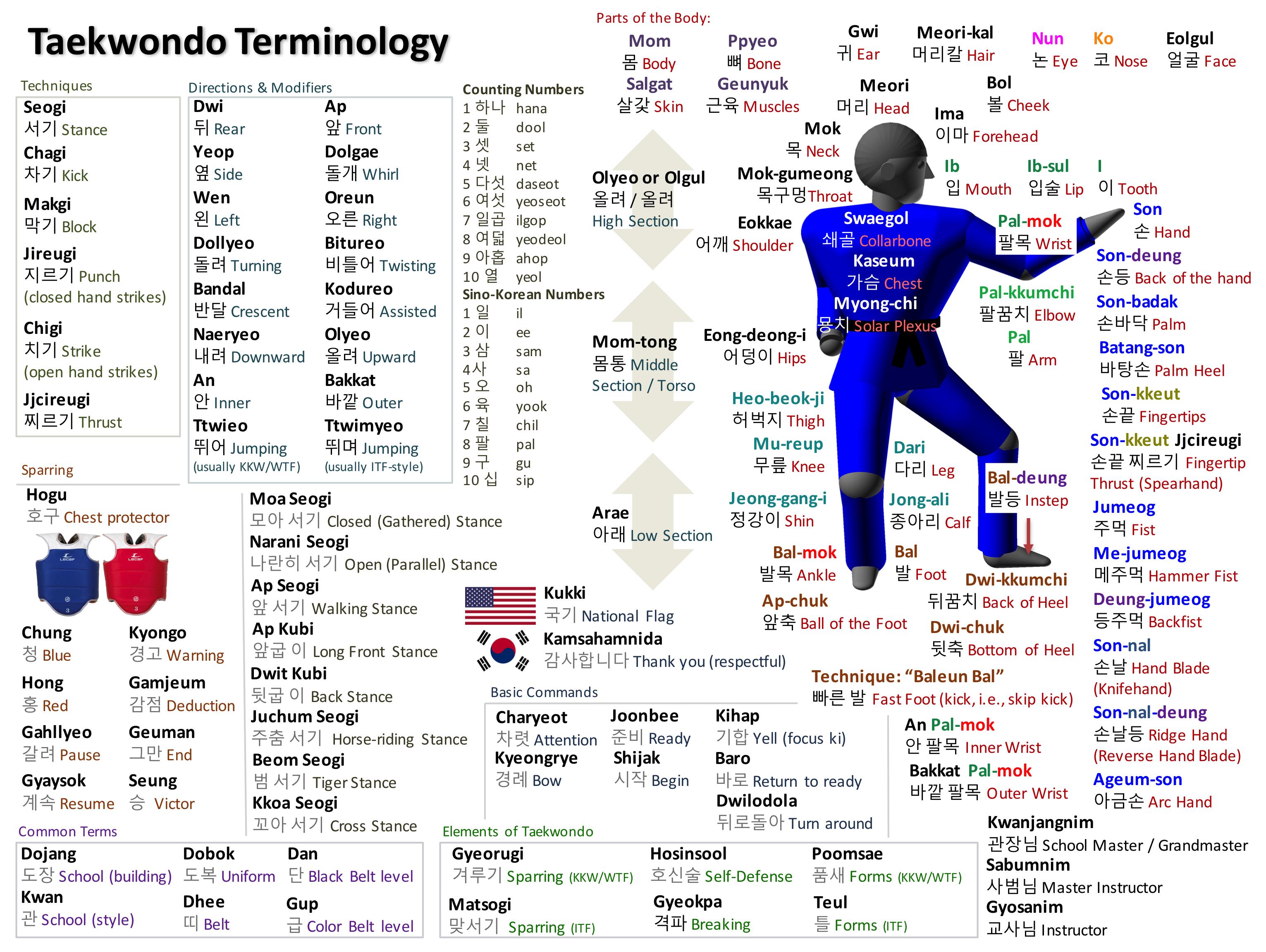 Taekwondo Vocabulary