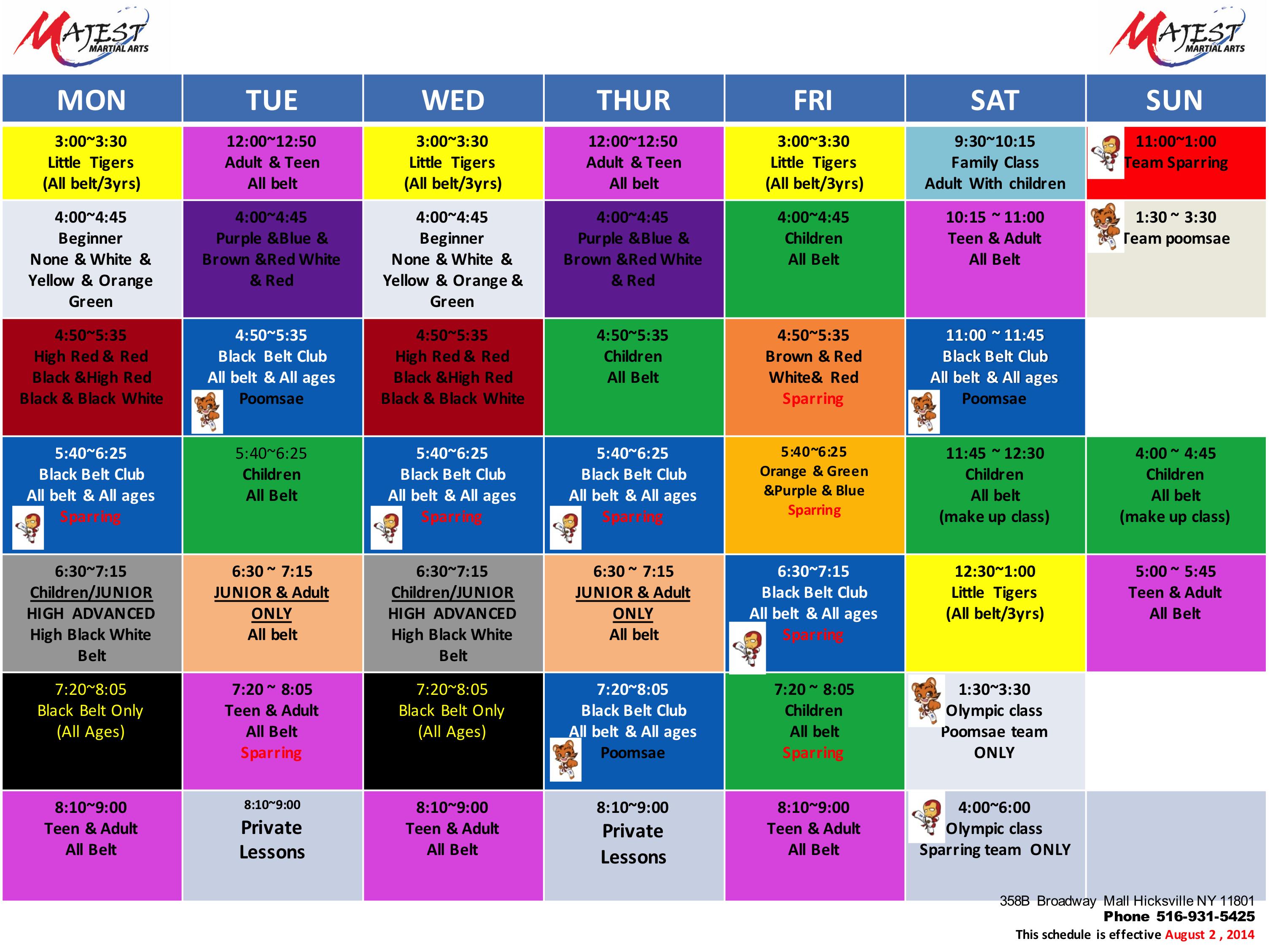 Team Pro MBA Majest Hicksville NY Class Schedule